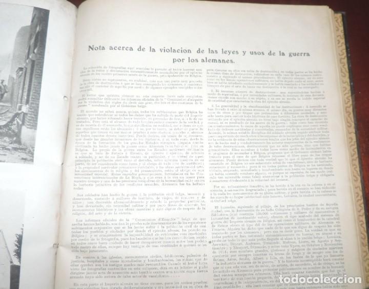 Militaria: SIGUIENDO LAS HUELLAS DEL EJÉRCITO ALEMÁN. THE DAILY CHRONICLE, LONDRES 1915. TAPA DURA, Ilustrado c - Foto 7 - 273625213