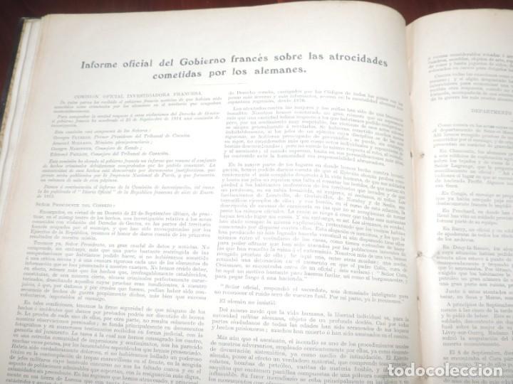 Militaria: SIGUIENDO LAS HUELLAS DEL EJÉRCITO ALEMÁN. THE DAILY CHRONICLE, LONDRES 1915. TAPA DURA, Ilustrado c - Foto 9 - 273625213