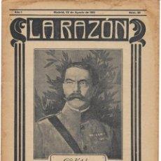 Militaria: 1ª GUERRA MUNDIAL. LA RAZÓN. REVISTA ALIADÓFILA DE 1915. Nº 32. Lote 276172523