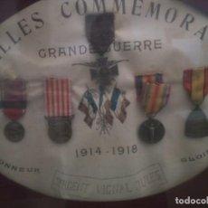 Militaria: CUADRO MEDALLAS FRANCESAS PRIMERA GUERRA MUNDIAL RARÍSIMO. Lote 276668993