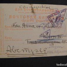 Militaria: POSTAL CIRCULADA RUSIA - ALEMANIA 1ª GUERRA MUNDIAL - PRISIONEROS DE GUERRA,- AÑO 1916. Lote 277418143