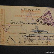 Militaria: POSTAL CIRCULADA RUSIA - ALEMANIA 1ª GUERRA MUNDIAL - PRISIONEROS DE GUERRA,- AÑO 1917. Lote 277418503