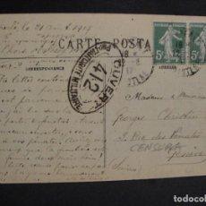 Militaria: POSTAL CIRCULADA - FRANCIA ITALIA - SELLO CENSURA FRANCESA - AÑO 1918. Lote 277420478