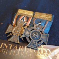 Militaria: PASADOR DE DOS CONDECORACIONES DE LA PRIMERA GUERRA MUNDIAL. Lote 278816308