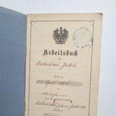 Militaria: ARBEITSBUCH DE 1908. Lote 282883078