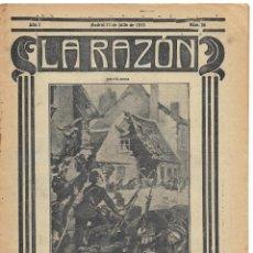 Militaria: 1ª GUERRA MUNDIAL. LA RAZÓN. REVISTA ALIADÓFILA DE 1915. Nº 26. Lote 286492488
