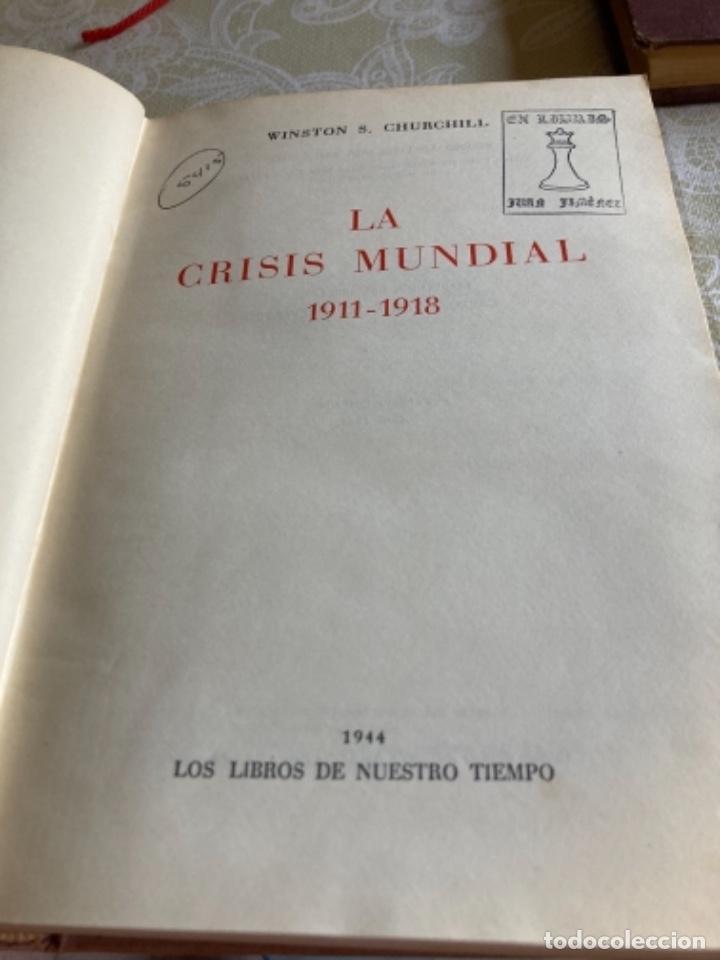 Militaria: Libro la crisis mundial winston churchill - Foto 3 - 288338688