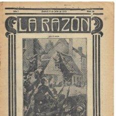 Militaria: 1ª GUERRA MUNDIAL. LA RAZÓN. REVISTA ALIADÓFILA DE 1915. Nº 26. Lote 292949173