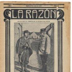 Militaria: 1ª GUERRA MUNDIAL. LA RAZÓN. REVISTA ALIADÓFILA DE 1915. Nº 23. Lote 292950473
