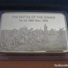 Militaria: LINGOTE ORO LAMINADO. THE BATTLE THE SOMME 1916. ALEMANIA I GUERRA MUNDIAL. Lote 293202528