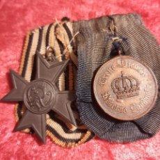 Militaria: PASADOR DE DOS MEDALLAS PRUSIANAS. Lote 294095923