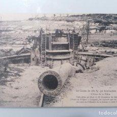 Militaria: POSTAL, EL CAÑON DE 380 MM QUE BOMBARDEO AMIENS, EL ALMA DE LA PIEZA. Lote 295280303