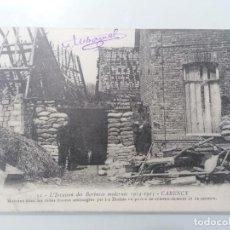 Militaria: POSTAL, LA INVASIÓN DE LOS BÁRBAROS MODERNOS, 1914-15, ESCRITA 1916. Lote 295285658