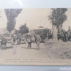 Militaria: POSTAL GUERRA 1914-15, INGLÉS CAVALIER EL CAVALIER FRANCAIS, DURANTE UN ARCHIVO TURCOS. Lote 295288313