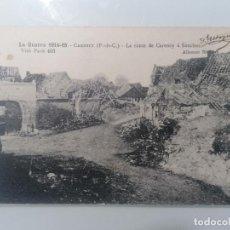Militaria: POSTAL CARENCY, LA RUTA DE CARENCY A SOUCHEZ, GUERRA 1914-15, ESCRITA 1917. Lote 295289468
