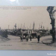 Militaria: POSTAL, RUINAS DE AUCHY - PUNTO REDONDO - RUTA DE BETHUNE A BASSEE. Lote 295294498