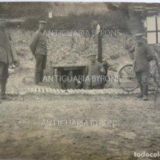 Militaria: FOTOGRAFÍA ORIGINAL. 1ª GUERRA MUNDIAL. SOLDADOS. CRUZ ROJA (11 X 8 CM). Lote 295358603