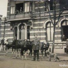 Militaria: FOTOGRAFÍA ORIGINAL. 1ª GUERRA MUNDIAL. SOLDADOS ALEMANES. VACAS Y PERRO (7,5 X 7 CM). Lote 295360863