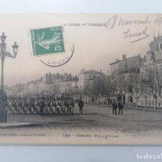 Militaria: POSTAL ROMANS - DESFILE, EL DROME PINTORESCA, CIRCULADA 1907. Lote 295409408