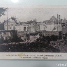Militaria: POSTAL FONCQUEVILLERS, EL ÁREA DE LA PLACE DE L'EGLISE, GUERRA 1914-15. Lote 295413228