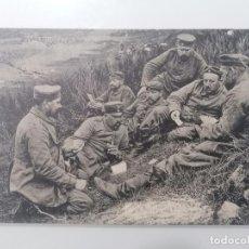 Militaria: POSTAL,GRUPO DE SOLDADOS JUGANDO A LAS CARTAS. Lote 295478248