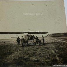 Militaria: FOTOGRAFÍA ORIGINAL. 1ª GUERRA MUNDIAL. AVIÓN Y SOLDADOS ALEMANES (5,5 X 5,5 CM). Lote 295510793