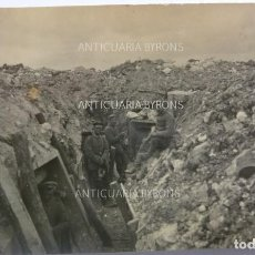 Militaria: FOTOGRAFÍA ORIGINAL. 1ª GUERRA MUNDIAL. SOLDADOS ALEMANES EN LA TRINCHERA (11 X 6,5 CM). Lote 295511723