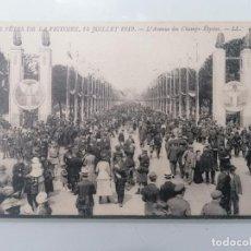Militaria: POSTAL, DESFILE DE LA VICTORIA, 14 DE JULIO 1919, AVENIDA DE LOS CAMPOS ELISEOS. Lote 295519073