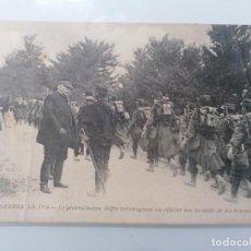 Militaria: POSTAL, GENERAL JOFFRE PREGUNTANDO A UN OFICIAL SOBRE LA SALUD DE SUS HOMBRES, GUERRA 1914. Lote 295524888