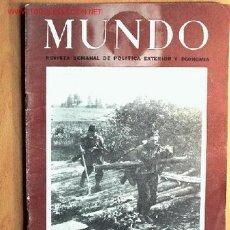 Militaria: SEMANARIO MUNDO Nº 247 DE 28 DE ENERO DE 1945. ABUNDANTE MATERIAL GRÁFICO Y PLANOS DE BATALLAS.. Lote 24977523