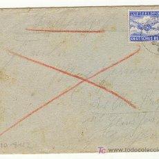 Militaria: ALEMANIA AVION LUFTFELDPOST SEGUNDA GUERRA MUNDIAL 10-8-1942 SOBRE CON CARTA. Lote 23394020