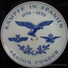 Militaria: SOBERBIO PLATO CONMEMORATIVO DE LA LEGIÓN CÓNDOR EN LA GUERRA CIVIL ESPAÑOLA 1936-39. PORCELANA DE. Lote 7855756