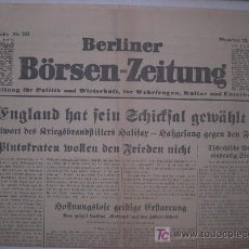 Periodico Aleman Nazi Berliner Borsen Zeitung 2 Sold Through Direct Sale 12899476