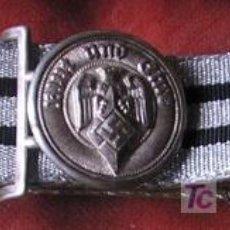 Militaria: CINTURÓN DE JERARQUÍA DE LA JUVENTUD HITLERIANA. COMPLETO, CON SU HEBILLA PLATEADA. CINTO DE TELA. Lote 16379908