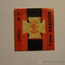 Militaria: PEGATINA DE LA DIVISIÓN AZUL, SOCORRO AZUL.. Lote 5147001