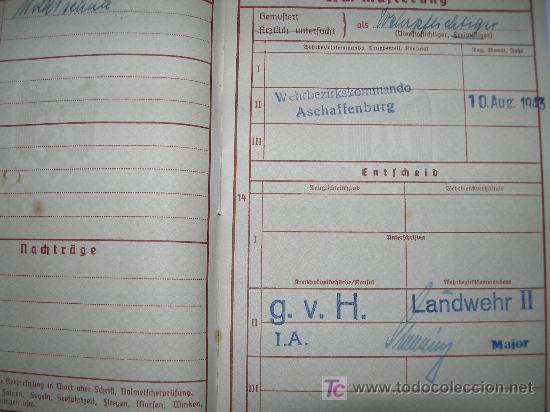 Militaria: WEHRPAB(08). - Foto 4 - 26392932