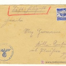 Militaria: ALEMANIA TERCER REICH CARTA CON BONITO SELLO CORREO AEREO AVION 1942. Lote 21330156