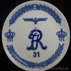 Militaria: PLATO CONMEMRATIVO DEL 31º REGIMIENTO DE INFANTERÍA DE LA WEHRMACHT, IIGM. PORCELANA DE MEISSEN. R. Lote 27284878