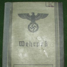 Militaria: ALEMANIA II GUERRA - WEHRPASS. Lote 26298068