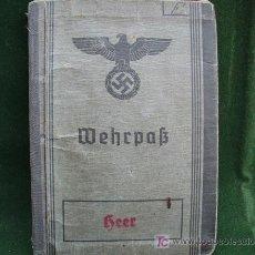 Militaria: ALEMANIA II GUERRA - WEHRPASS HEER. Lote 26298071