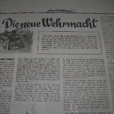 Militaria: DIE NEUE WEHRMACHT 15-01-1938 (02). Lote 27541954