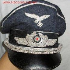 Militaria: GORRA DE PLATO PARA OFICIAL LUFTWAFFE. IIGM. INTERIOR CON MARCAJE. COMPLETA. . (WWII. Lote 116638836