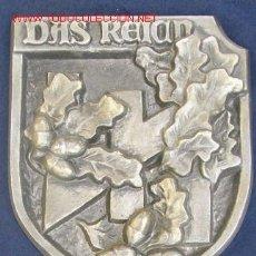 """Militaria: PLACA CONMEMORATIVA DE LA DIVISIÓN WAFFEN-SS """"DAS REICH"""". IIGM. EN ALUMINIO. APROX. 25 X 25 CM. . Lote 27349971"""