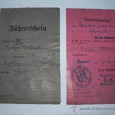Militaria: FUHRERSCHEIN+BESCHEINIGUNG.. Lote 27541963
