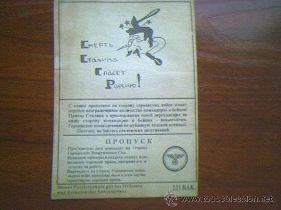 OCTAVILLA DE LA WEHRMACHT LANZADA SOBRE LINEAS RUSAS EN EL FRENTE DEL ESTE. (Militar - II Guerra Mundial)