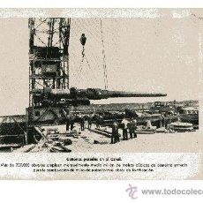 Militaria: LAMINA DE LA II GUERRA MUNDIAL CAÑONES PESADOS EN EL CANAL. Lote 13054681