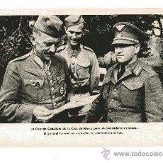 Militaria: LAMINA DE LA II GUERRA MUNDIAL 18X24 LA CRUZ DE CABALLERO DE LA CRUZ DE HIERRO PARA UN COMANDANTE . Lote 13062090