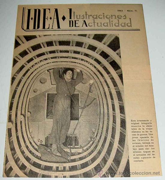 ANTIGUA PUBLICACION IDEA NUM. 11 - 1943 - ILUSTRACIONES DE ACTUALIDAD - II  GUERRA MUNDIAL - PROPAGAN 54188895de97