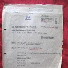 Militaria: TOP DOCUMENTO 1939 CUARTEL GENERAL LUFTWAFFE HERMAN GOERING AL MARISCAL KELSSERING 100% ORIGINAL. Lote 13755971