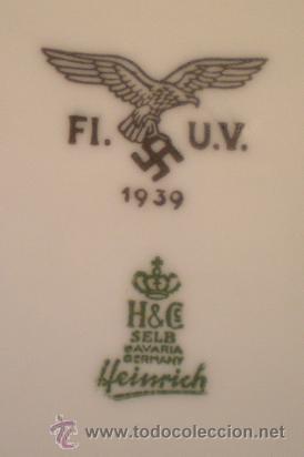 PLATO ALEMÁN 1939. II G.M. CON EMBLEMA DE LA LUFTWAFFE. 100% ORIGINAL. ALEMANIA (Militar - II Guerra Mundial)
